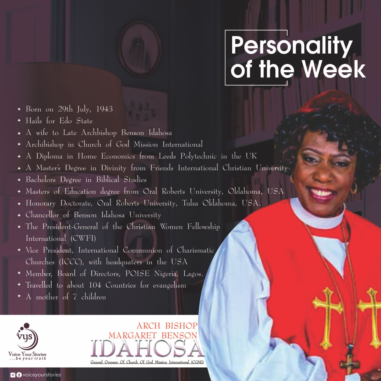 The Life Story of Archbishop Margaret Benson ldahosa