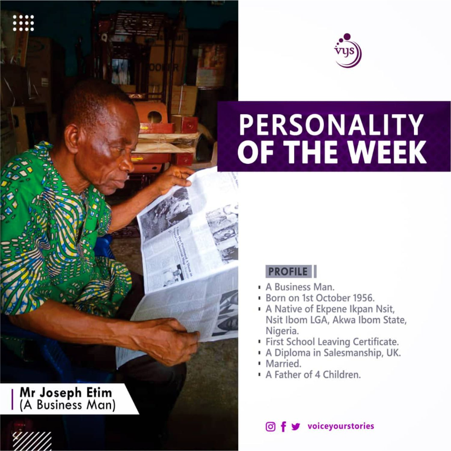 Joseph Etim: After 38 Years in Business