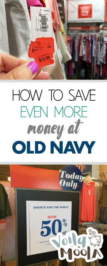 How to Save Even MORE Money at Old Navy - Voila Moola | Save Money, Save Money Tips, Save Money Ideas, Budgeting, Budgeting Ideas, Budgeting Hacks, Old Navy, Old Navy Outfits