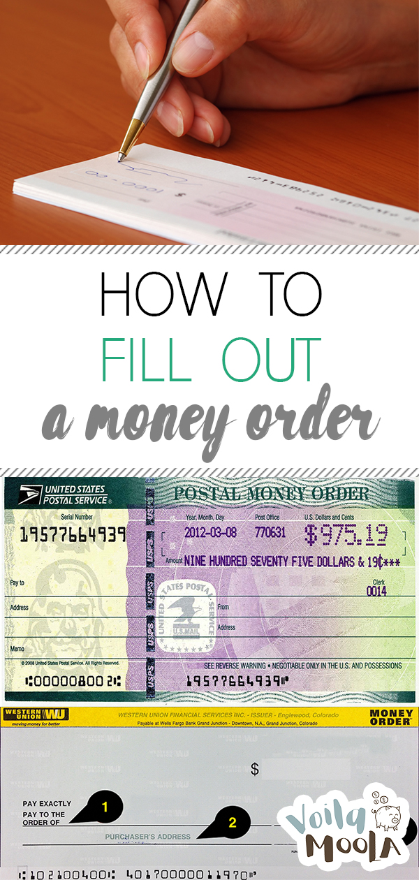 Money Order   How to Fill Out a Money Order   Money Orders   Fill Out a Money Order