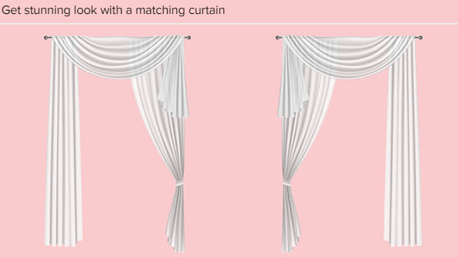 how to drape a sheer curtain scarf over