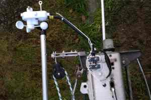 Montage d'une girouette anémomètre Nasa Clipper Wind – installation de l'aérien