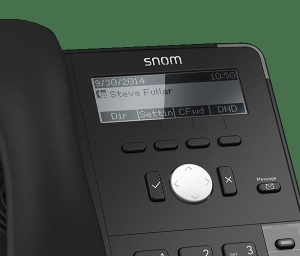 snom d715 desk phone closeup