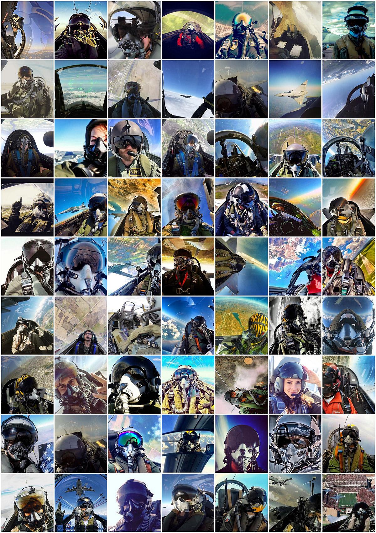 selfies pilote de chasse