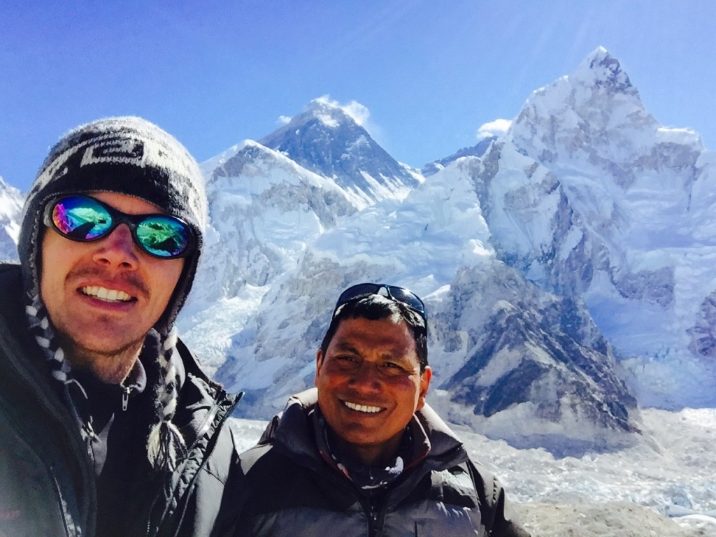 Me and Dal below Mt. Everest