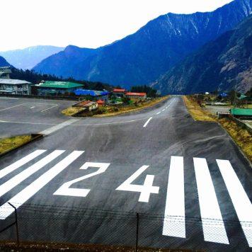 Runway at Lukla airport, Nepal