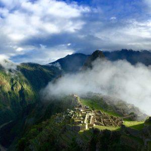 Sunrise over Machu Picchu, Andes Mountains, Peru