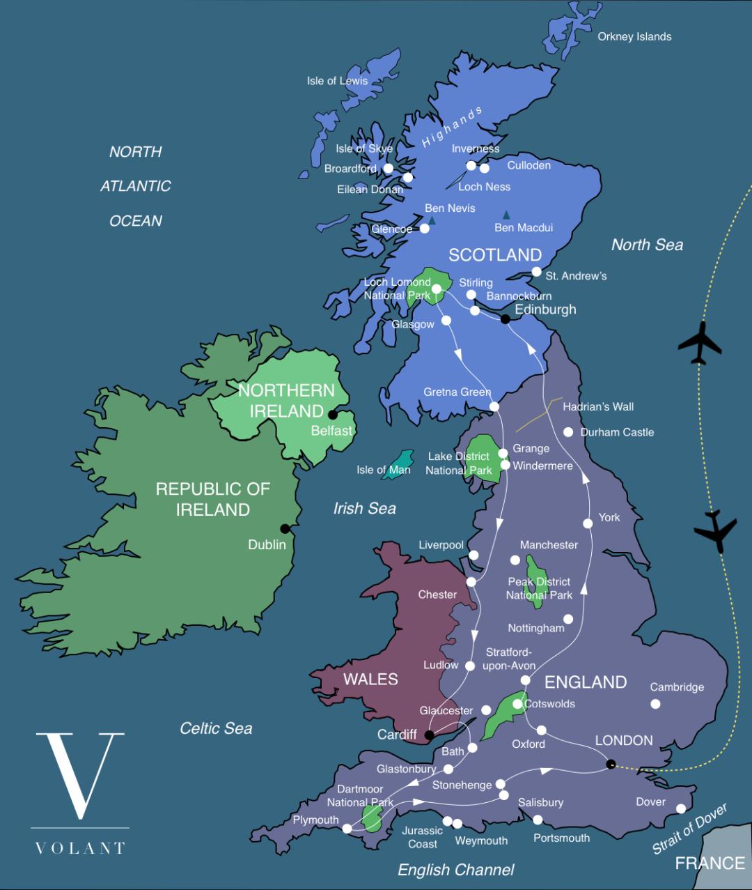 Discover Britain Tour Map   Volant