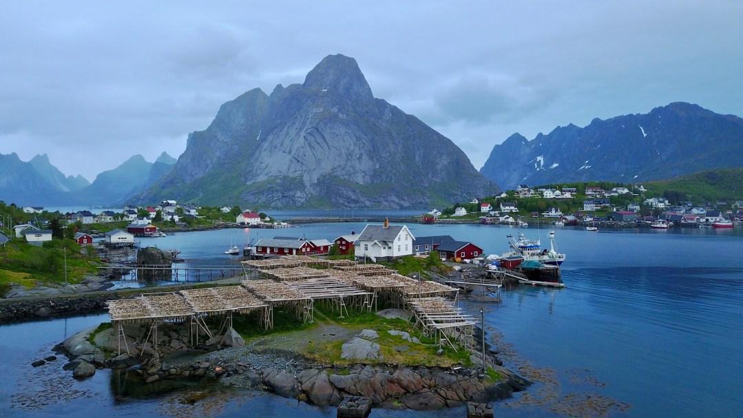Reine Village, Cod Drying Racks, Lofoten Islands, Norway | Volant Travel