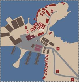 Reine Rorbu Overview Map, Reine, Norway