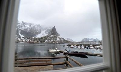 Reine Rorbu Window, Reine, Norway