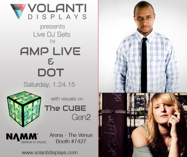 Volanti booth at NAMM with Amp Live & Dot