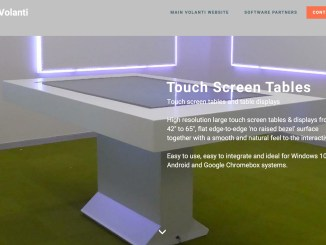 Volanti touch screen tables website