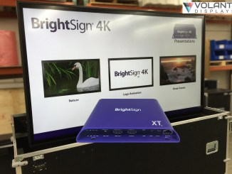 Volanti 84inch 4K touch and BrightSign XT 4K media player