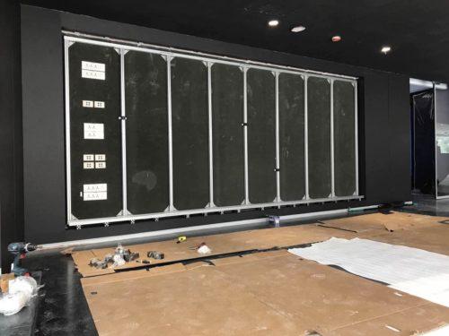 led wall install 3