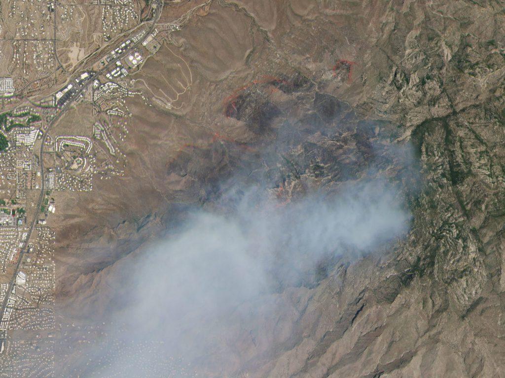 Skysat image bighorn fire Tucson, Arizona