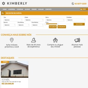 website imobiliaria kimberly