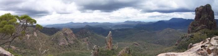 Panorama of the Warrumbungles volcano
