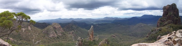 Panorama of the Warrumbungles volcano