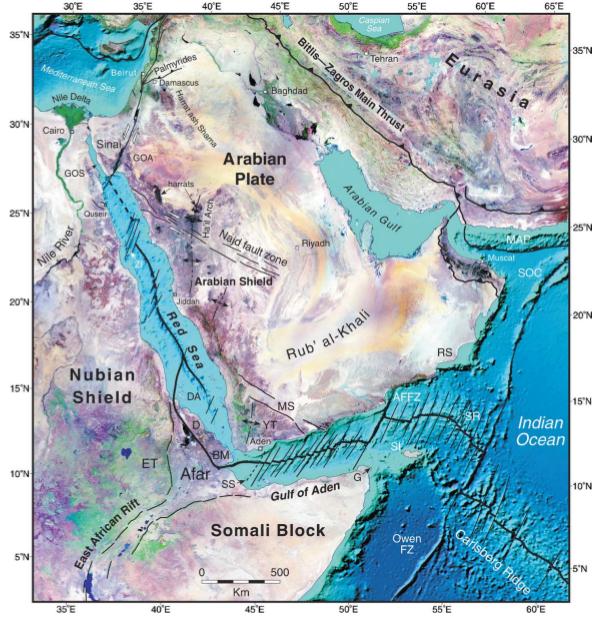 Landsat images and ocean topography