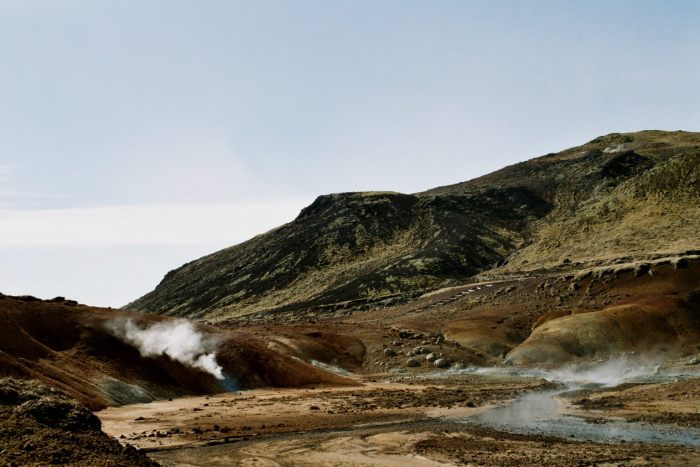 Krýsuvik geothermal field. Wikimedia Commons, photograph by Reykholt.