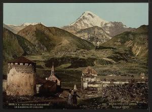 Mount Kazbek, on an old postcard