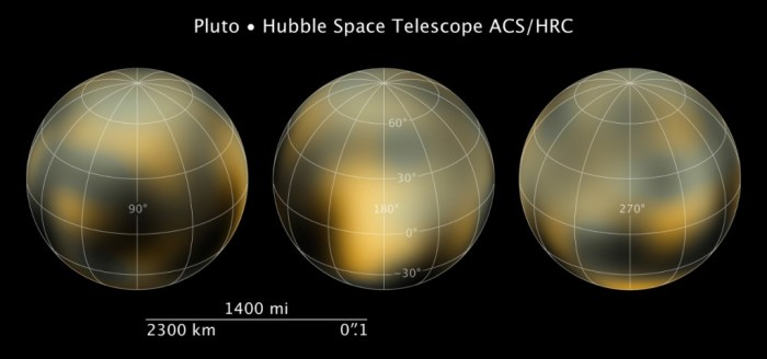 HST images of Pluto