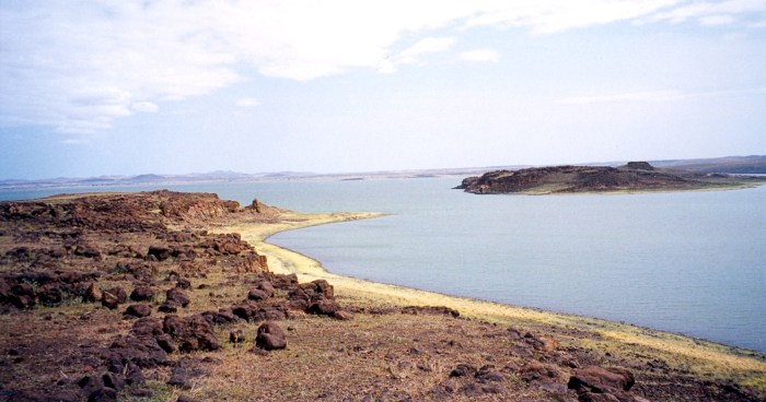 Lake Turkana from Southern Island.