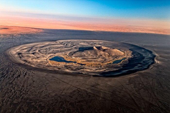 The Oasis Caldera of Waw an Namus, not a tourist friendly volcano.