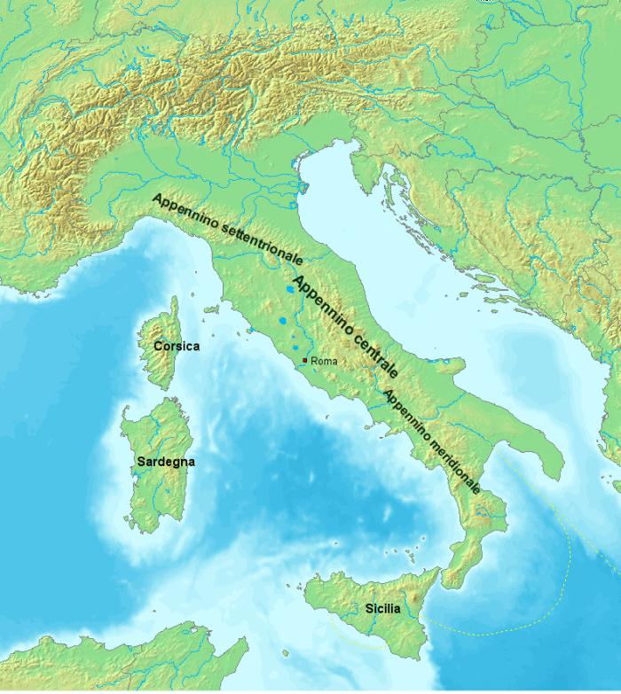The three Apennines (wikipedia)