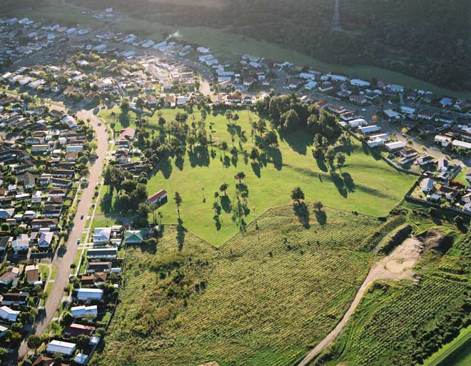 The Wellington fault in Upper Hutt. Source: Te Ara Encyclopedia of New Zealand
