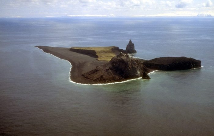 The pre-eruption island (wikipedia). Click on the image for full resolution.
