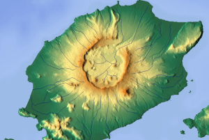 Okmok caldera, northeast  Unmak. Source: wikipedia