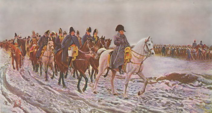 Napoleon's march through the volcanic Russian winter