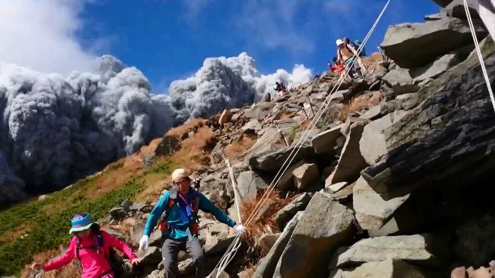 Seconds from Death. Photograph from a camera recovered on the slope of Mount Ontake, courtesy Japan Times.