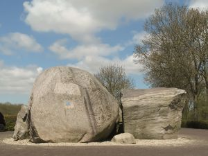 Glacial boulders left in the Netherlands (Schokland)