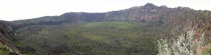The summit crater of Mount Longonot