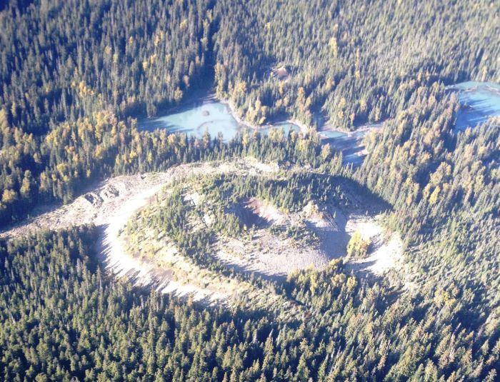The Tseax cone and Lava Lake (sourced form wikipedia)