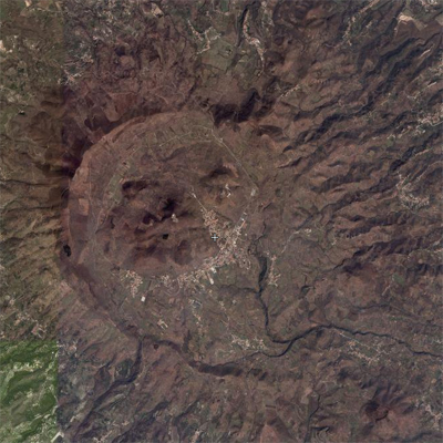 Fig 3. Aerial photograph of Roccamonfina caldera. (campaniatour.it)