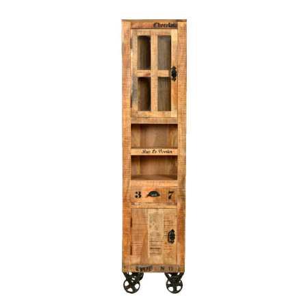 Rustic -sarjan 191 cm korkea kaappi kahdella ovella