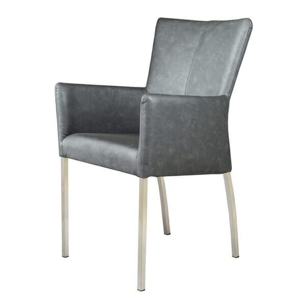 Tuoli käsinojilla Vintage Black