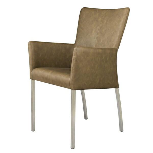 Tuoli käsinojilla Vintage Brown