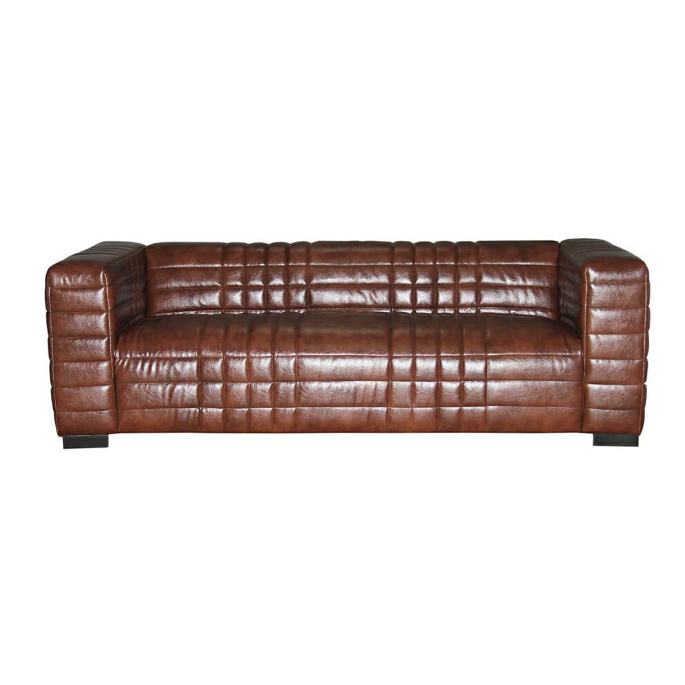Sohva, ruskea nahka