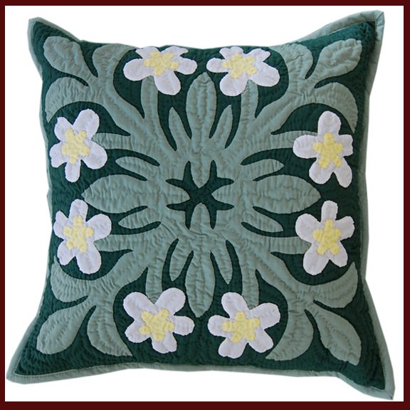hawaiian hand quilted pillows made in