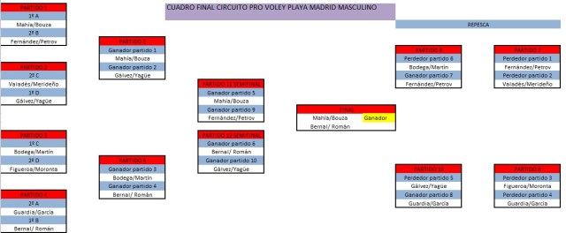 Cuadro final PRO Voley Playa 2014 masculino