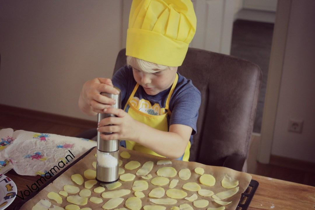 chips maken oven baked - volgmama