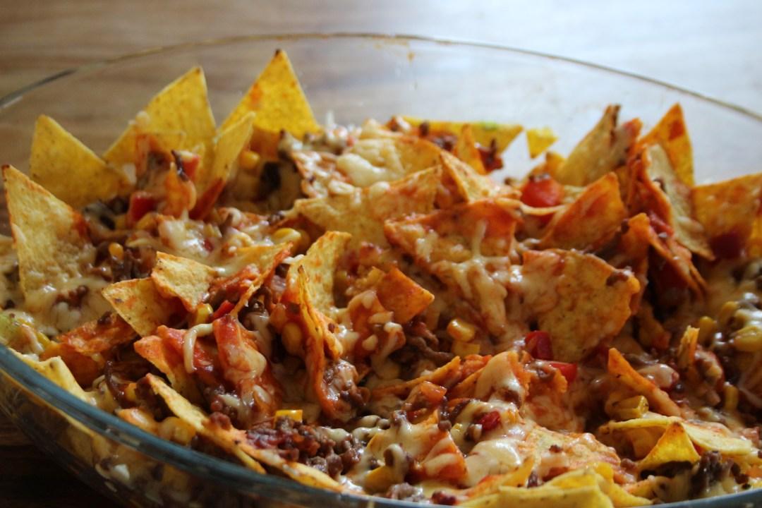 nachos, ovenschotel