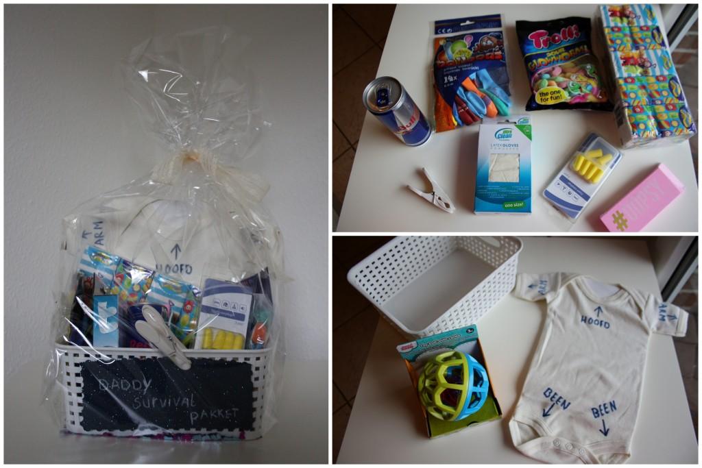 daddy survival kit, papa overlevingspakket, kraamcadeau