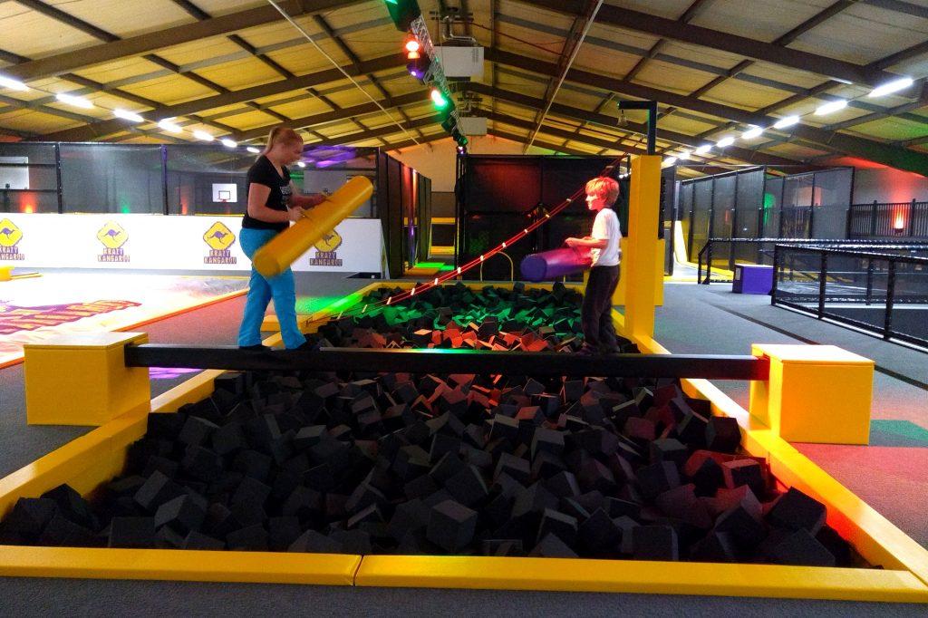 Schuimblokken trampoline