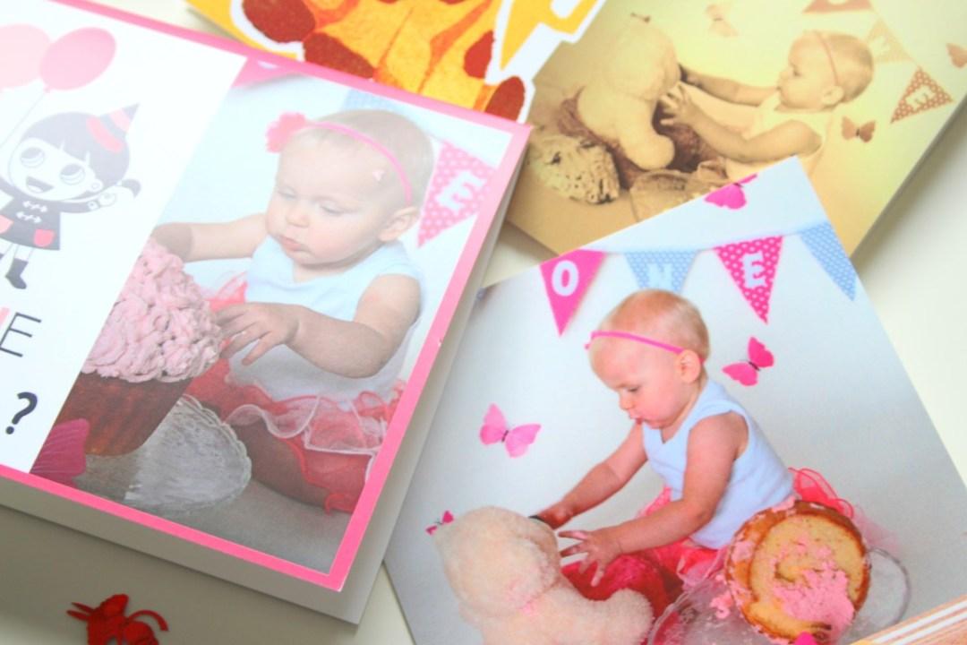 New Fotokaart maken voor de eerste verjaardag; tips; uitnodiging; cake @CE57